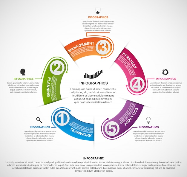 Modèle d'infographie pour les entreprises.