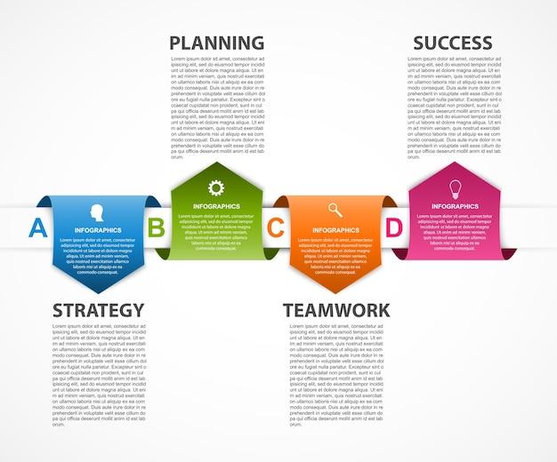 Modèle d'infographie pour les présentations commerciales.