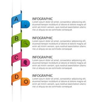 Modèle d'infographie pour les présentations d'entreprise ou la bannière d'information.