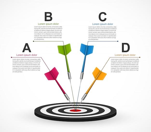 Modèle d'infographie pour des présentations d'entreprises.