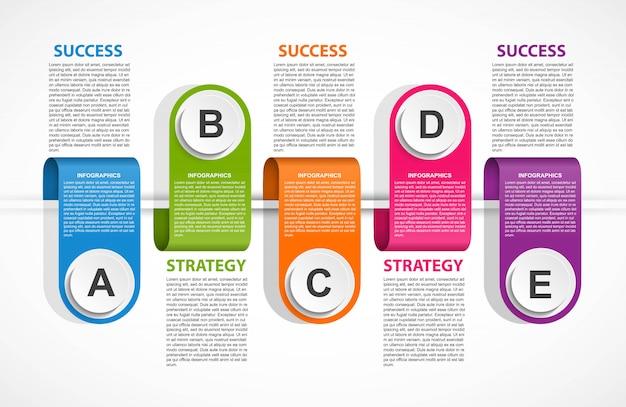 Modèle d'infographie pour les présentations d'entreprises.