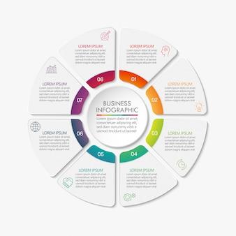 Modèle d'infographie de présentation business circle