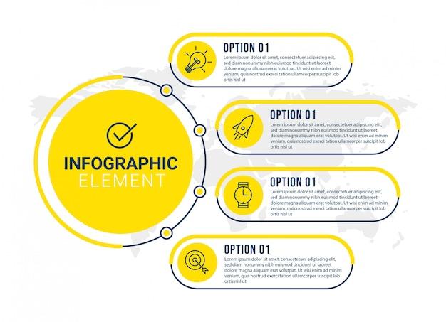 Modèle d'infographie de présentation d'entreprise avec 5 options.