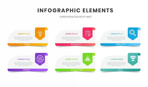 Modèle d'infographie de présentation d'entreprise avec 6 options
