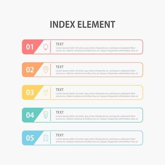 Modèle d'infographie de présentation d'entreprise. illustration.