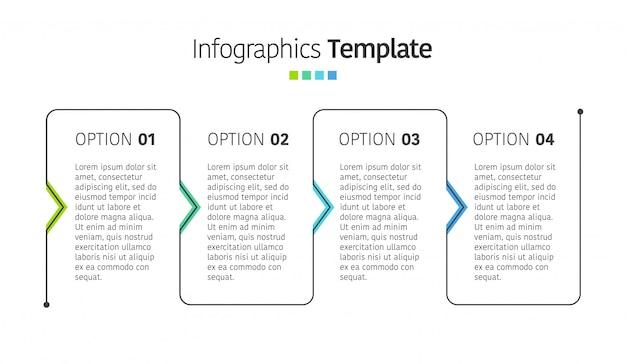 Modèle d'infographie de présentation d'entreprise avec des options. illustration.