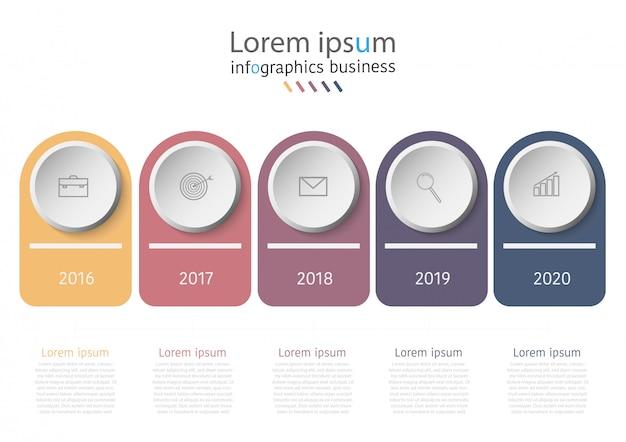 Modèle d'infographie de présentation entreprise avec des options.