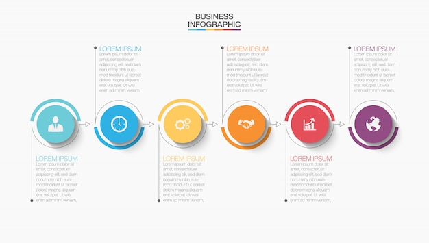 Modèle d'infographie de présentation d'entreprise avec des options