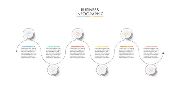 Modèle d'infographie de présentation entreprise avec options.