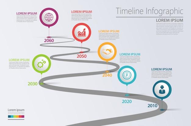 Modèle d'infographie de présentation entreprise route