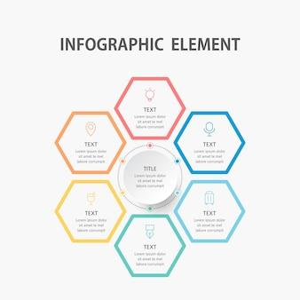 Modèle d'infographie de présentation entreprise.