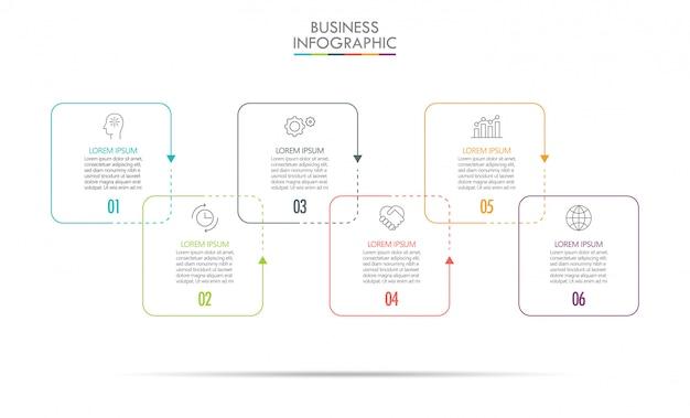 Modèle d'infographie de présentation entreprise