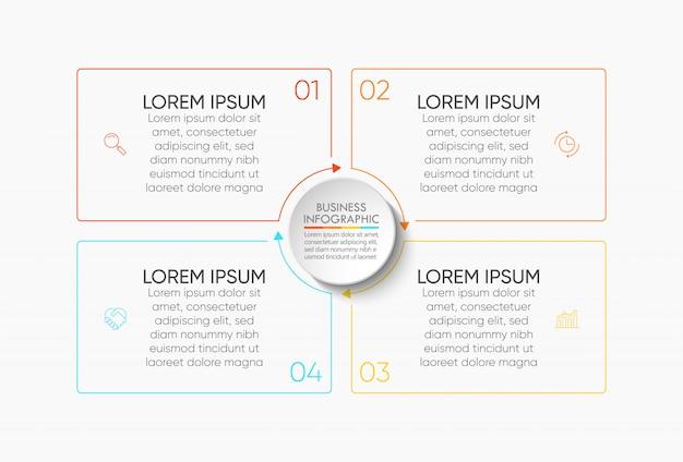 Modèle d'infographie de présentation d'entreprise