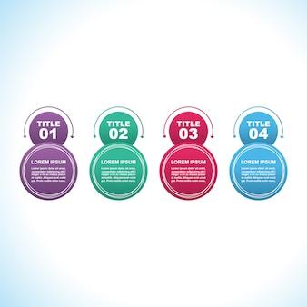 Modèle d'infographie de processus marketing moderne d'étapes de processus
