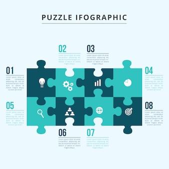 Modèle d'infographie de puzzle