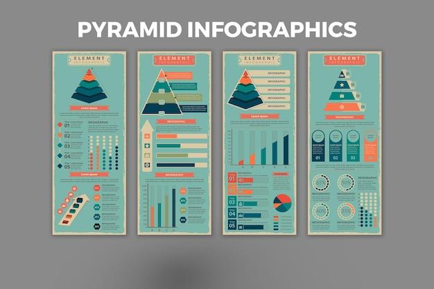 Modèle d'infographie de pyramide