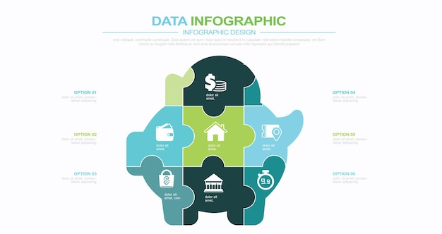 Modèle d'infographie de rapport mensuel d'économie d'argent illustration stock infographie économies accueil fin