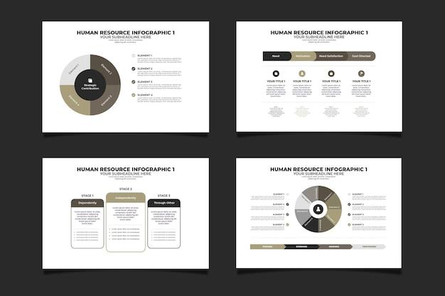 Modèle d'infographie des ressources humaines