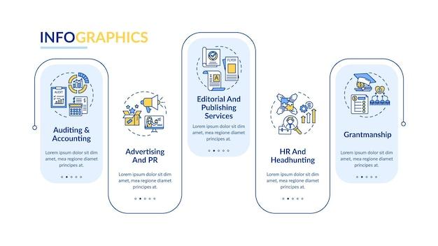 Modèle d'infographie de service de conseil aux entreprises