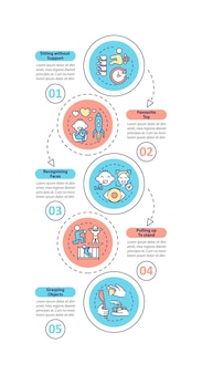 Modèle d'infographie des stades de développement de la petite enfance