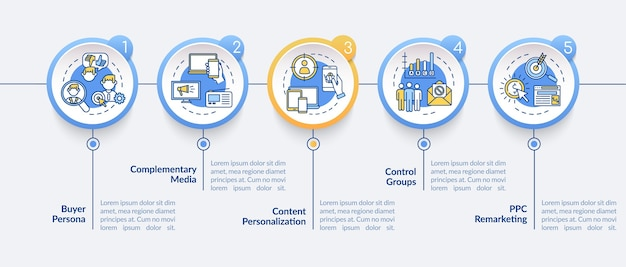 Modèle d'infographie de stratégie de marketing numérique