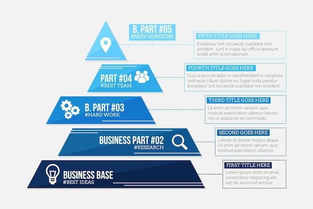 Modèle d'infographie de stratégie