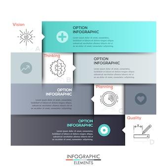 Modèle d'infographie de style minimal moderne