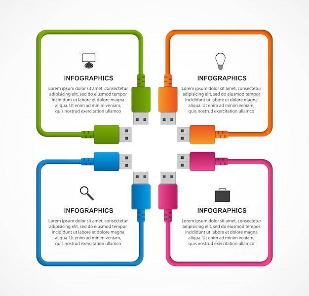 Modèle d'infographie de technologie.