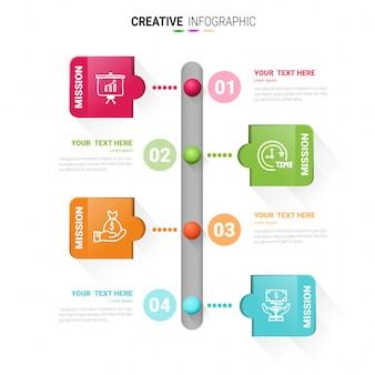 Modèle d'infographie timeline, modèle de conception de vecteur timbre infographie