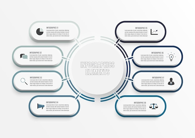 Modèle d'infographie de vecteur avec du papier. entreprise avec des options.