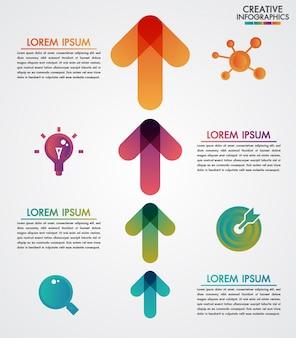 Modèle infographie de vecteur de flèches 4 étapes timeline étape par étape, diagramme, présentation