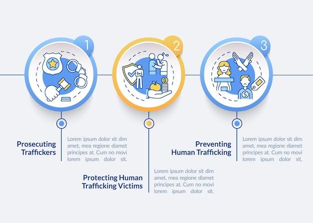 Modèle d'infographie vectorielle contre la traite des êtres humains