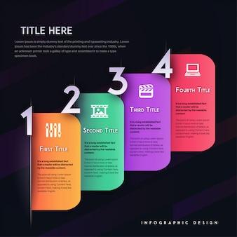 Modèle d'infographie vectorielle moderne