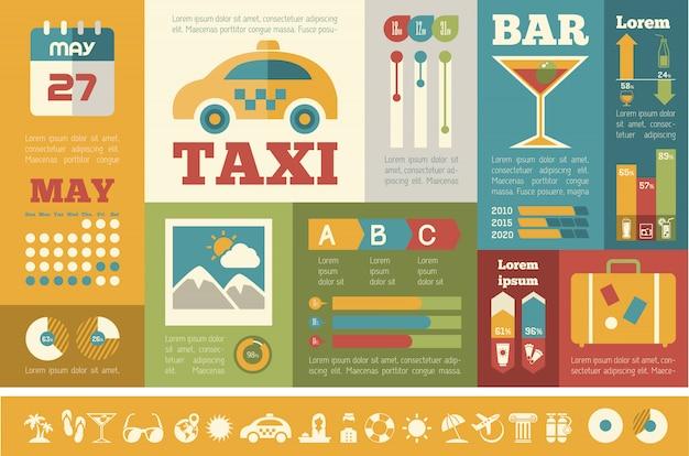 Modèle d'infographie de voyage.