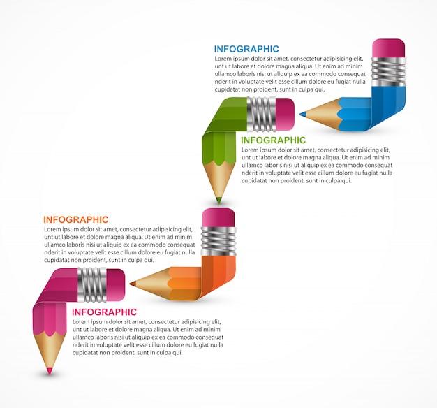 Modèle d'infographie.