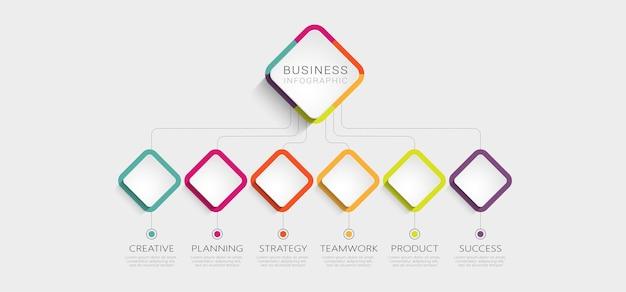Modèle infographique 3d abstrait avec des options pour la brochure
