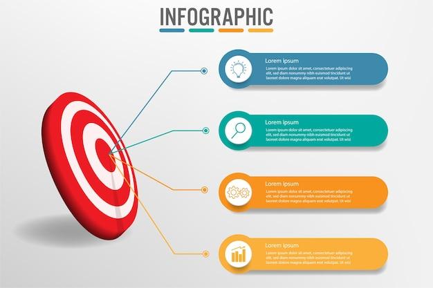 Modèle infographique d'affaires