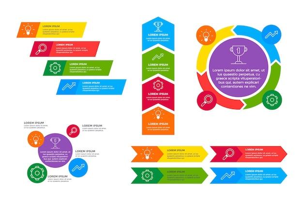 Modèle infographique agile