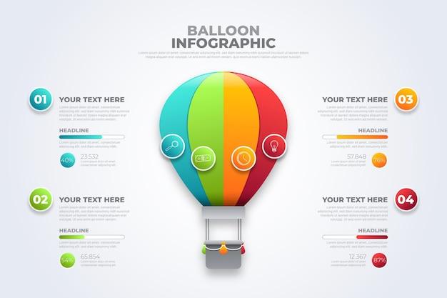 Modèle infographique de ballon réaliste