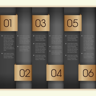 Modèle infographique de bannières numérotées pour la présentation