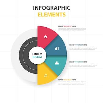 Modèle infographique de business circle circle abstrait