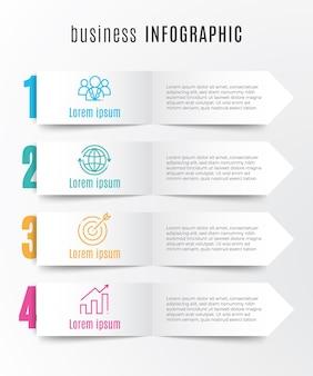 Modèle infographique de chronologie 4 étapes