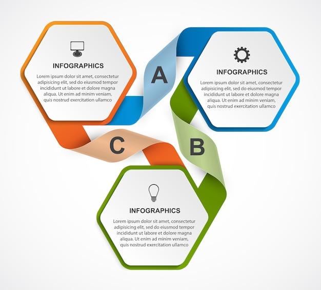 Modèle Infographique Coloré Vecteur Premium