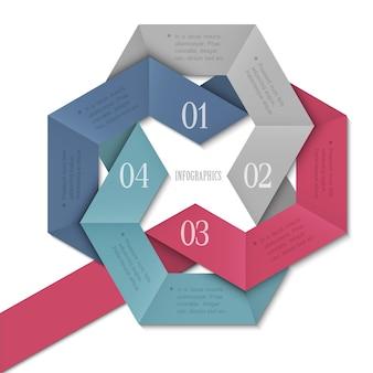 Modèle infographique créatif