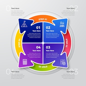 Modèle infographique de diagramme circulaire réaliste