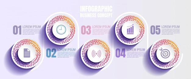 Modèle infographique d'entreprise