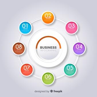 Modèle infographique de l'entreprise