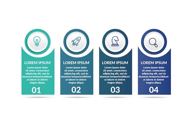 Modèle infographique d'étape pour la présentation