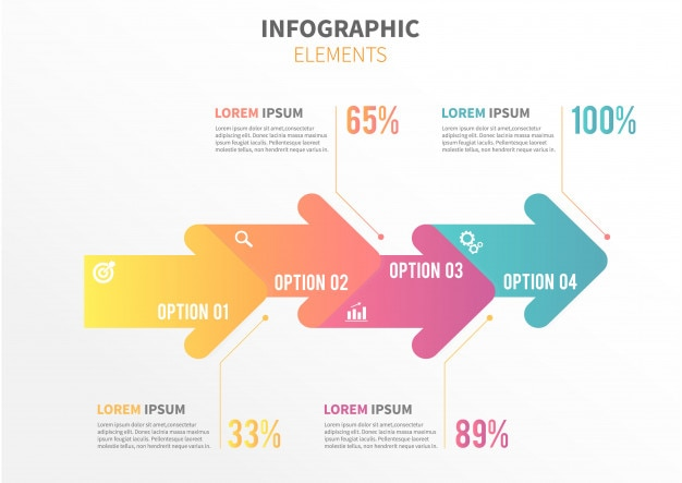 Modèle infographique de flèche