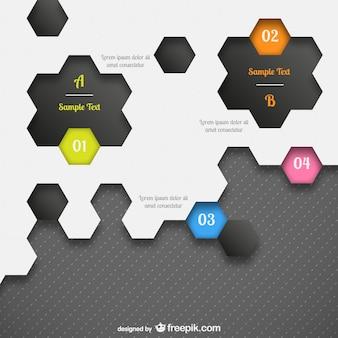 Modèle infographique honeycomb